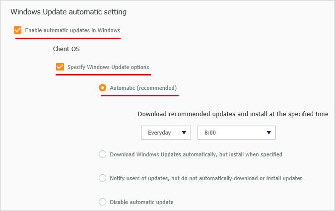 Windows Update 自動設定